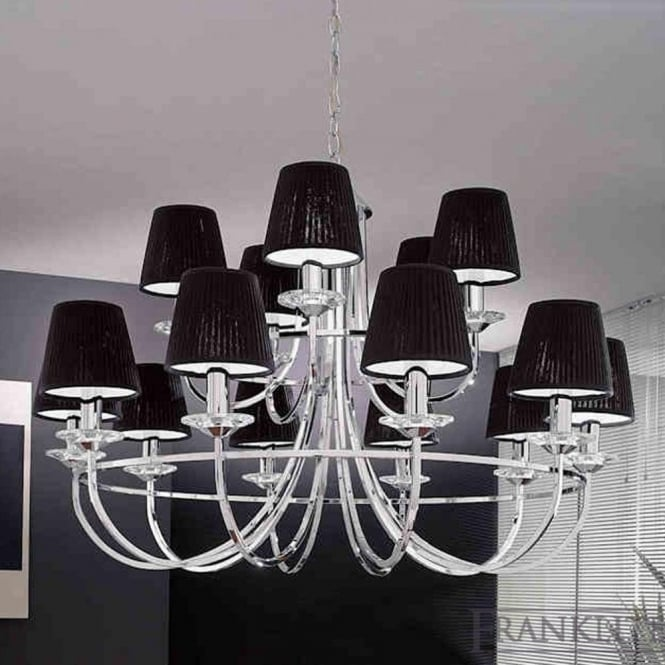 Franklite FL2146/15 Carousel 15 Light Ceiling Light Polished Chrome