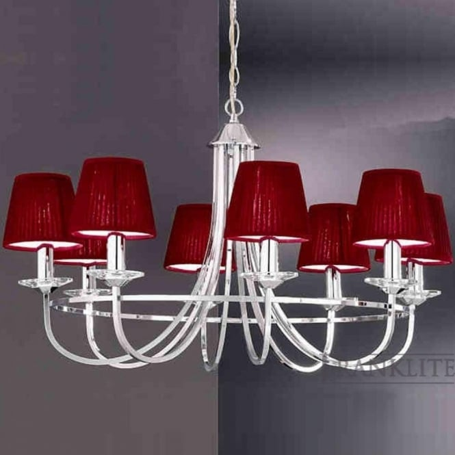 Franklite FL2146/8 Carousel 8 Light Ceiling Light Polished Chrome
