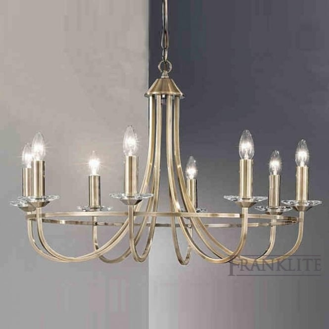 Franklite FL2147/8 Carousel 8 Light Ceiling Light Soft Bronze