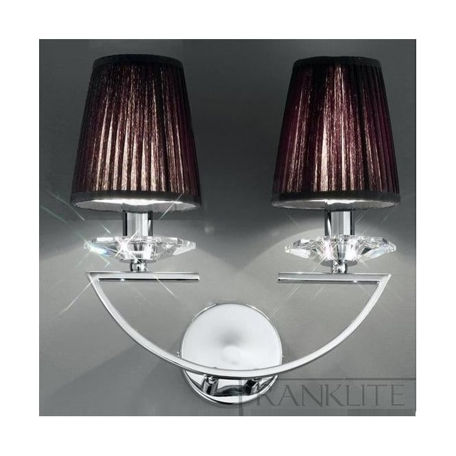 Franklite Crystal Wall Lights : Franklite FL2241/2 Artemis 2 Light Wall Crystal Chrome Light