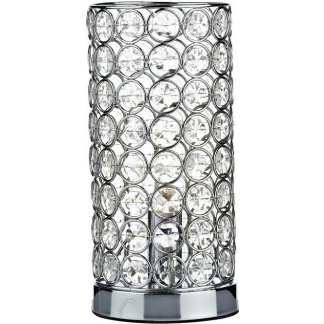 FRO4250 Frost 1 Light Crystal Touch Table Lamp Polished Chrome