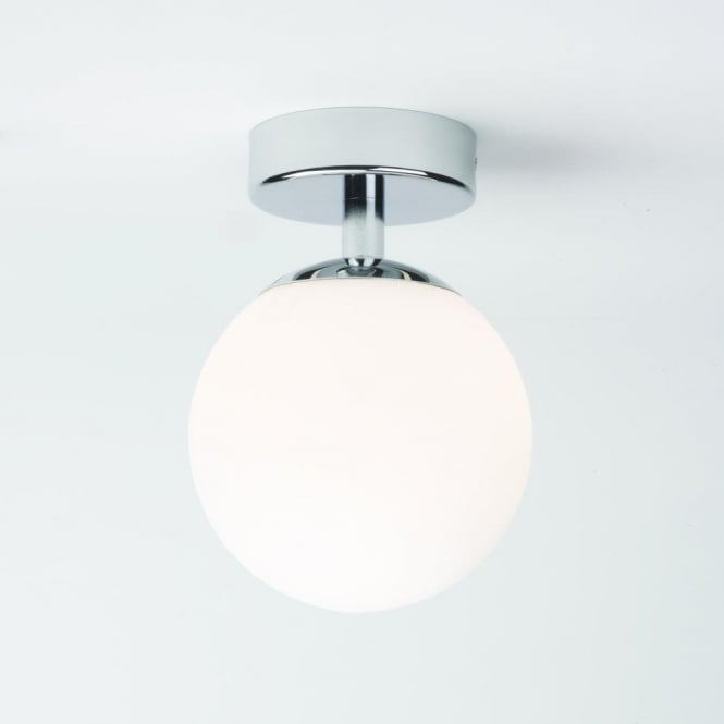 Astro 0323 Denver 1 Light Semi Flush Ceiling Light Polished Chrome IP44