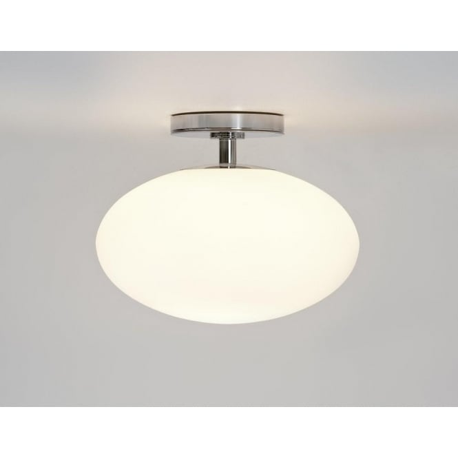 Astro 0830 Zeppo 1 Light Semi Flush Ceiling Light Polished Chrome IP44