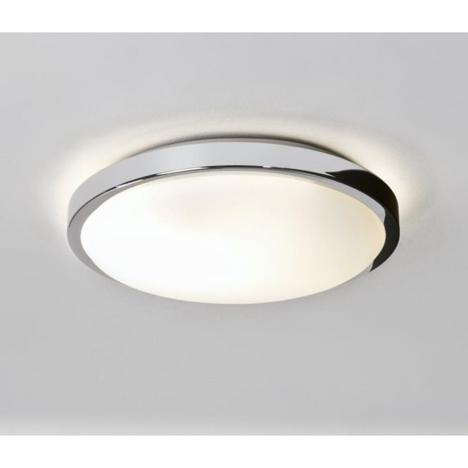 0587 denia 2 light flush ceiling light polished chrome ip44