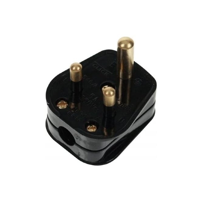 Click Mode Click Essentials PA176 5 amp round pin plug black