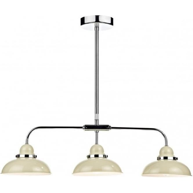 Dar DYN0333 Dynamo 3 Light Ceiling Light Cream