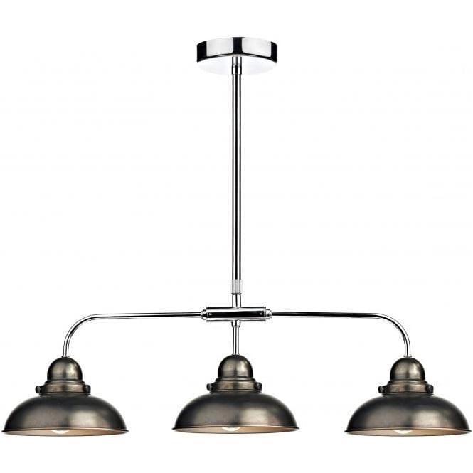 Dar Lighting Dynamo 3 Light Kitchen Island Pendant