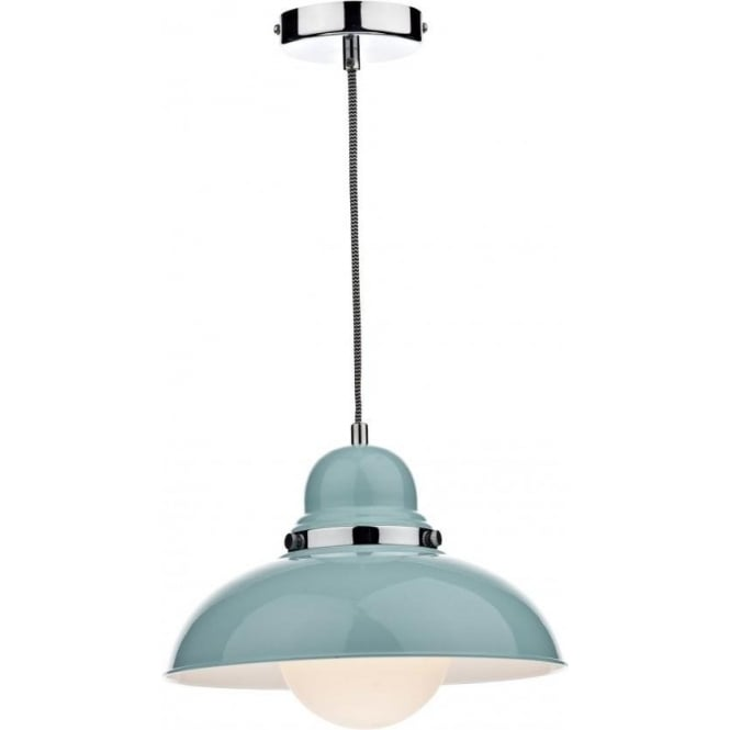 Dar DYN0123 Dynamo 1 Light Ceiling Light Pale Blue