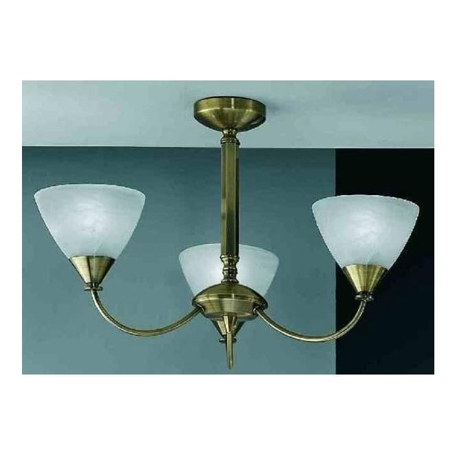 Franklite PE9663/786 Meridian 3 Light Ceiling Light Brushed Bronze