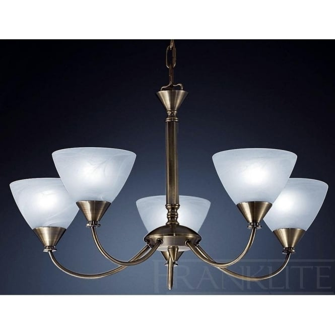 Franklite PE9665/786 Meridian 5 Light Ceiling Light Brushed Bronze