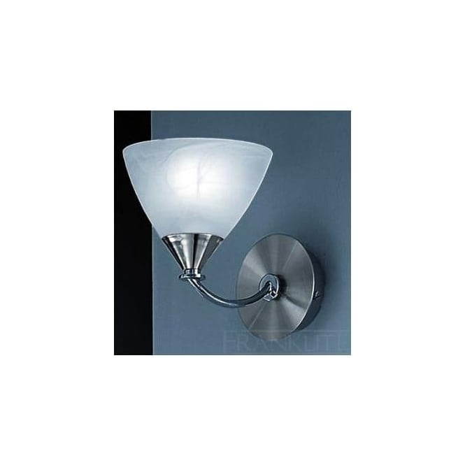 Franklite PE9671/786 Meridian 1 Light Wall Light Brushed Nickel