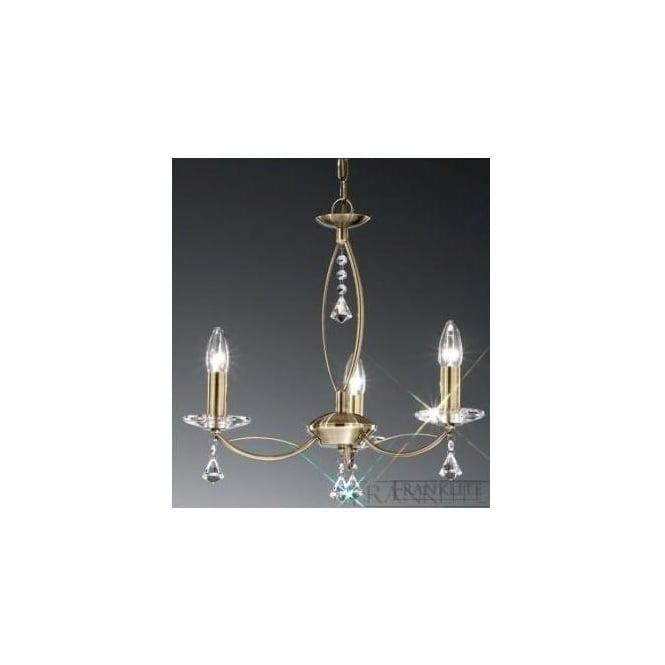 Franklite FL2228/3 Monaco 3 Light Crystal Ceiling Light Bronze