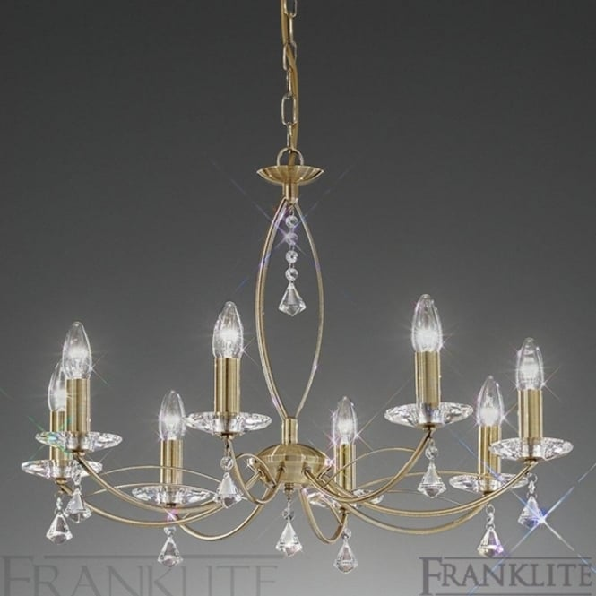 Franklite FL2228/8 Monaco 8 Light Crystal Ceiling Light Bronze