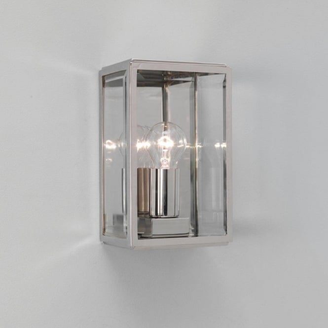 Astro 0563 homefield 1 light outdoor wall light 0563 homefield 1 light outdoor wall light polished nickel ip44 mozeypictures Images