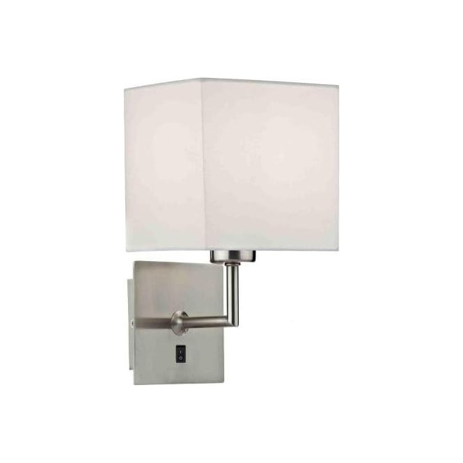 Self Switched Wall Lights : TIB0746 Tibet Switched Wall Light Dar Satin Chrome Wall Light