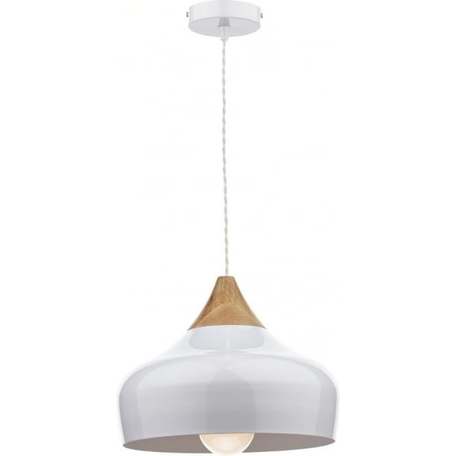 Gau0102 Gaucho 1 Light Ceiling Pendant White Small
