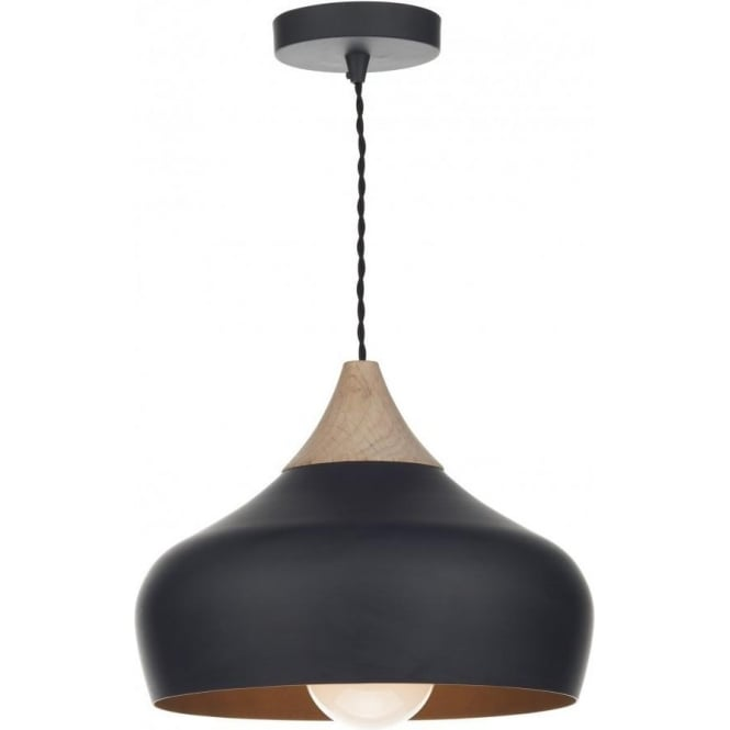 Gau0122 gaucho 1 light ceiling pendant matt black small