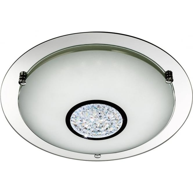 Searchlight 2773-41 LED Flush 1 Light Ceiling Light Polished Chrome