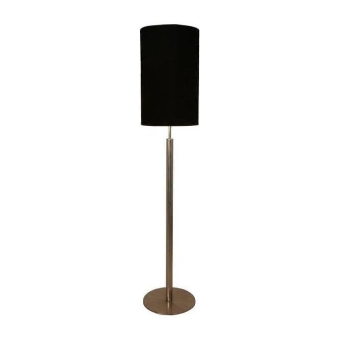 Retro Lighting GALLAFLOOR 1 Light Floor Lamp Satin Chrome