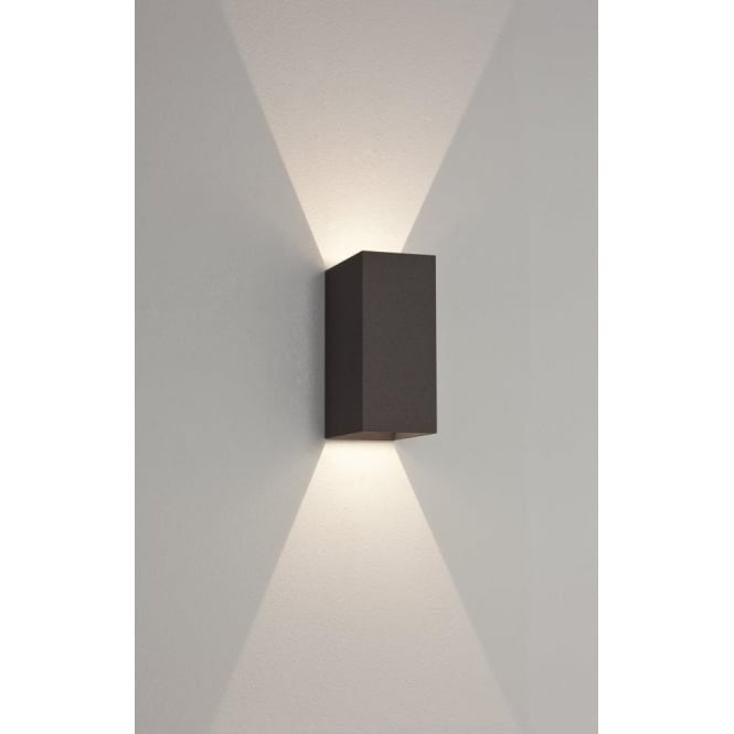 Astro 7061 oslo 160 2 light led wall light ip65 black 7061 oslo 160 2 light led outdoor wall light ip65 black aloadofball