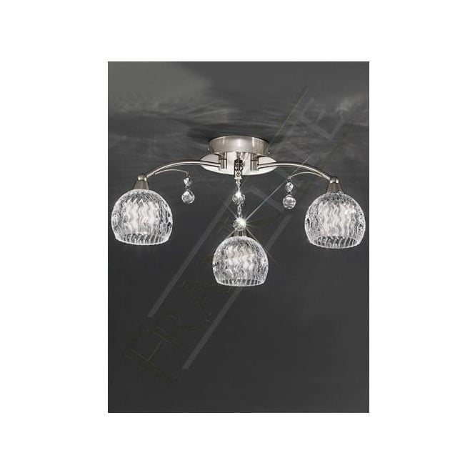 Franklite FL2295/3 Jura 3 Light Ceiling Light Satin Nickel