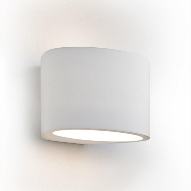 Searchlight 8721 Gypsum 1 Light Wall Up/Down Light White Plaster