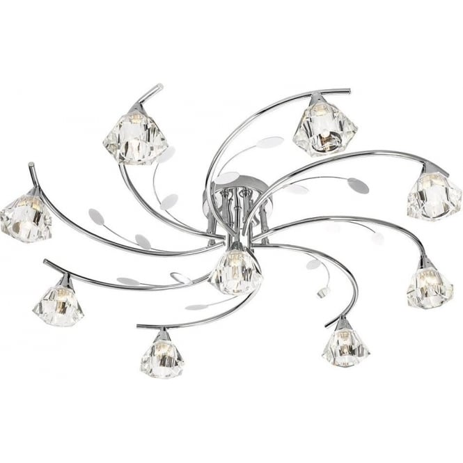 Searchlight 2639-9CC Sierra 9 Light Ceiling Light Polished Chrome
