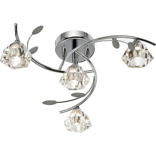 Searchlight 2634-4CC Sierra 4 Light Ceiling Light Polished Chrome