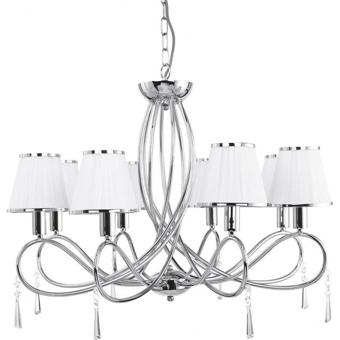 Searchlight 1038-8CC Simplicity 8 Light Ceiling Light Polished Chrome