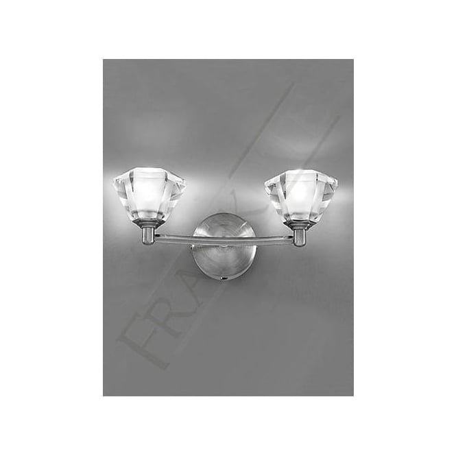 Franklite FL2294/2 Twista 2 Light Crystal Wall Light Satin Nickel