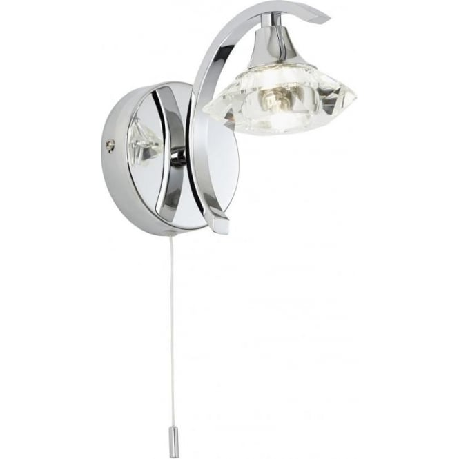 Endon LANGELLA-1WBCH 1 Light Switched Wall Light Polished Chrome