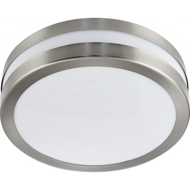 Searchlight 2641-28 Outdoor Flush Ceiling Light Stainless Steel IP44
