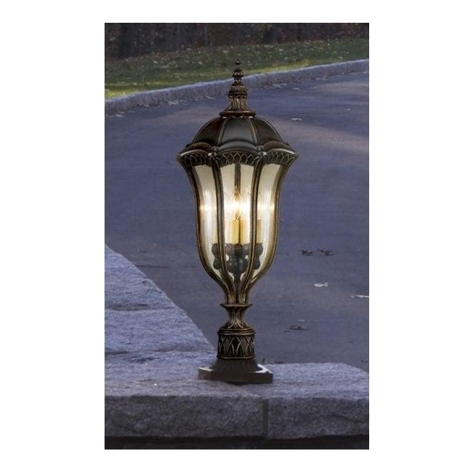 Baton Rouge Outdoor Pedestal Lantern By Feiss: Outdoor Post Lamps Online