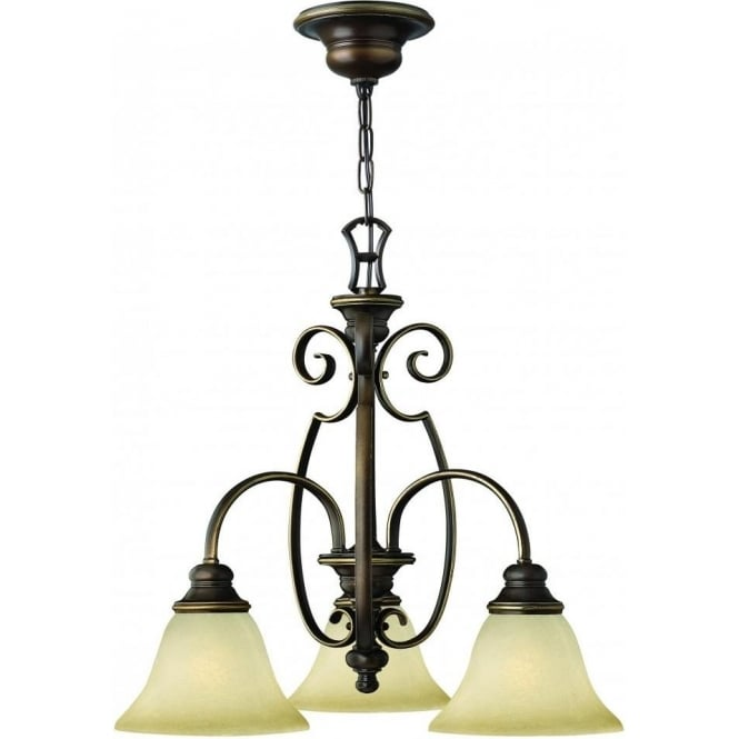 Elstead Lighting Hinkley HK/CELLO3 Cello 3 Light Ceiling Light Antique Bronze