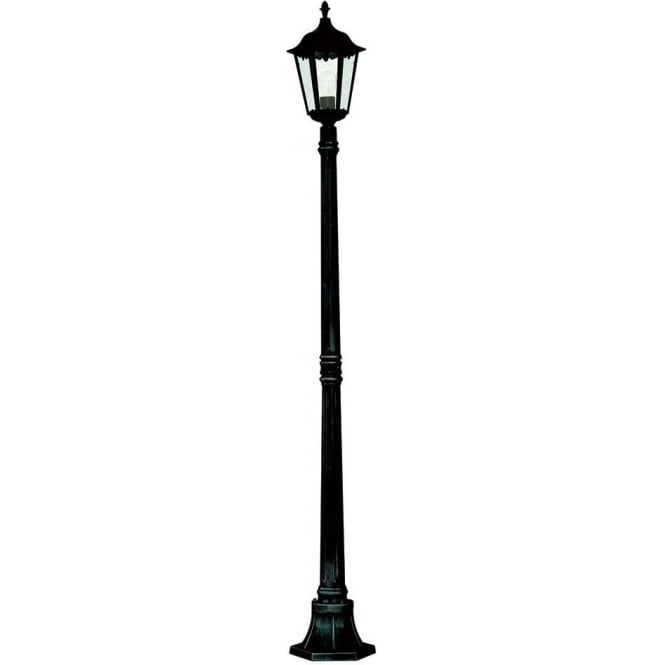 Searchlight 82508bk alex 1 light traditional outdoor post lamp ip44 82508bk alex 1 light traditional tall outdoor post lamp ip44 aloadofball Images
