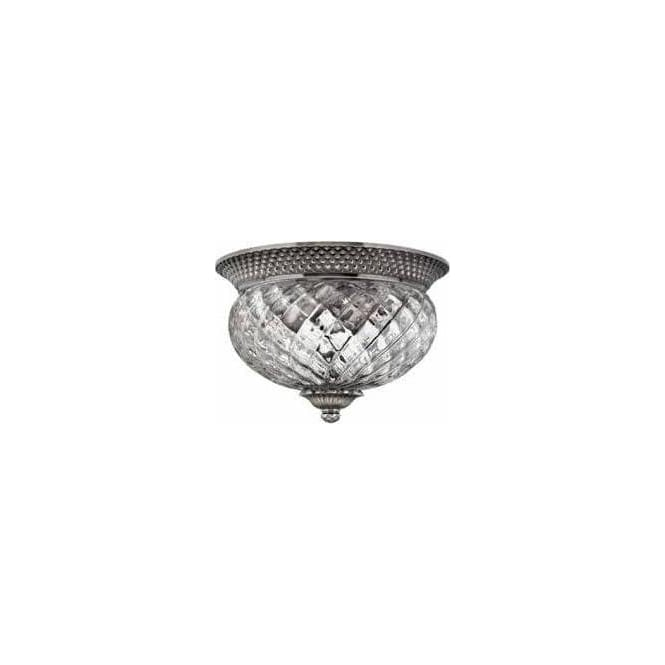 Elstead Lighting Hinkley HK/PLANT/F/S-PL Plantation 2 Light Ceiling Light Polished Antique Nickel