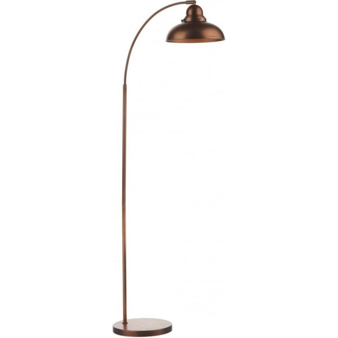 Dyn4964 Dar Dynamo 1 Light Floor Lamp Modern Antique Copper