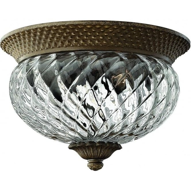 Elstead Lighting Hinkley HK/PLANT/F/S-PZ Plantation 2 Light Ceiling Light Pearl Bronze