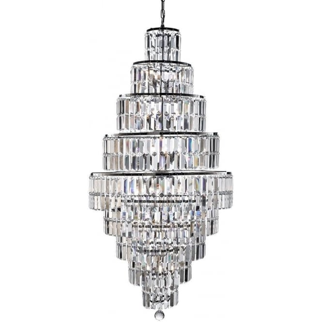 Searchlight 1500CC Empire 13 Light Crystal Ceiling Light Polished Chrome