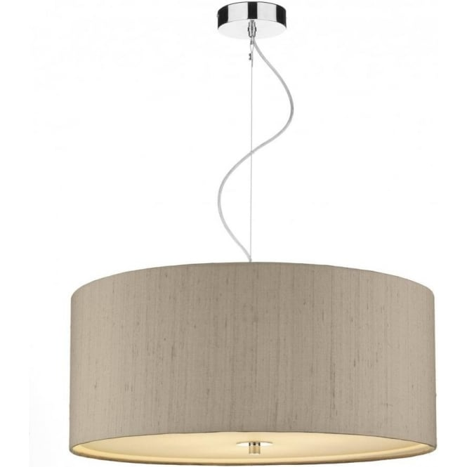 Dar REN1001 Renoir 3 Light Small Ceiling Pendant Taupe