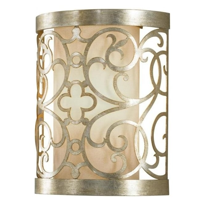 Elstead Lighting Feiss FE/ARABESQUE1 Arabesque 1 Light Wall Light Silver Leaf Patina