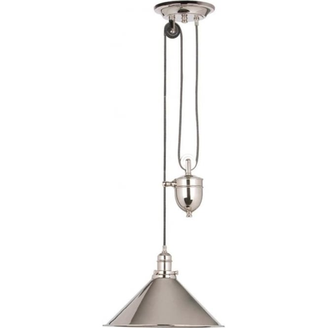 Elstead Lighting PV/P-PN Provence 1 Light Rise and Fall Ceiling Pendant Polished Nickel