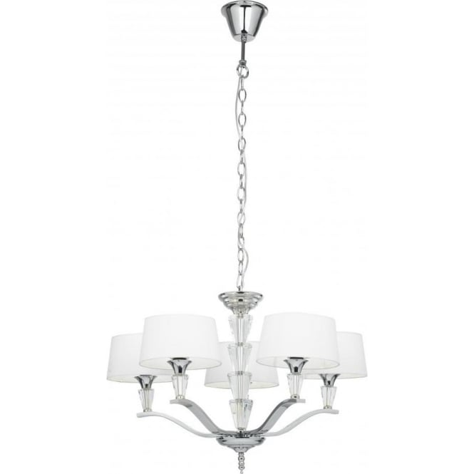 Endon FIENNES-5NI Fiennes 5 Light Ceiling Light Polished Nickel