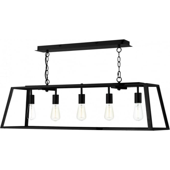 Dar aca0522 academy black pendant 5 light ceiling light dar aca0522 academy 5 light ceiling pendant black aloadofball Gallery