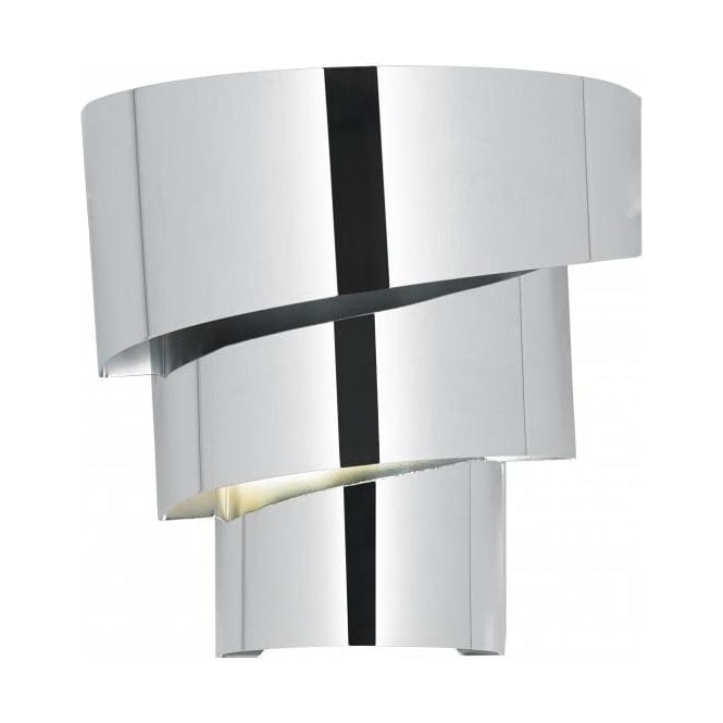 Endon Tiffany Wall Lights : Endon EVERETT-1WBCH 1 Light Modern Wall Light Chrome