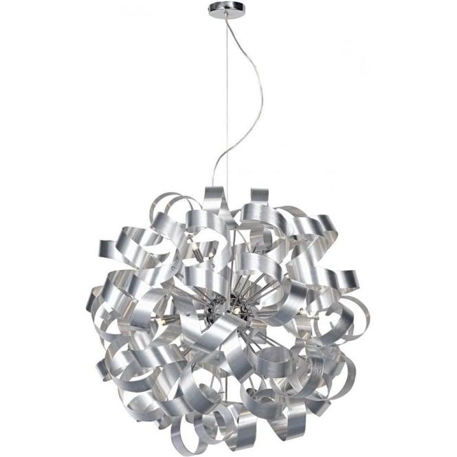Raw1250 Rawley Aluminium Pendant Dar 12 Light Ceiling Pendant
