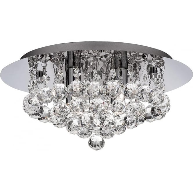 Searchlight Hanna Light Polished Chrome Semi Flush