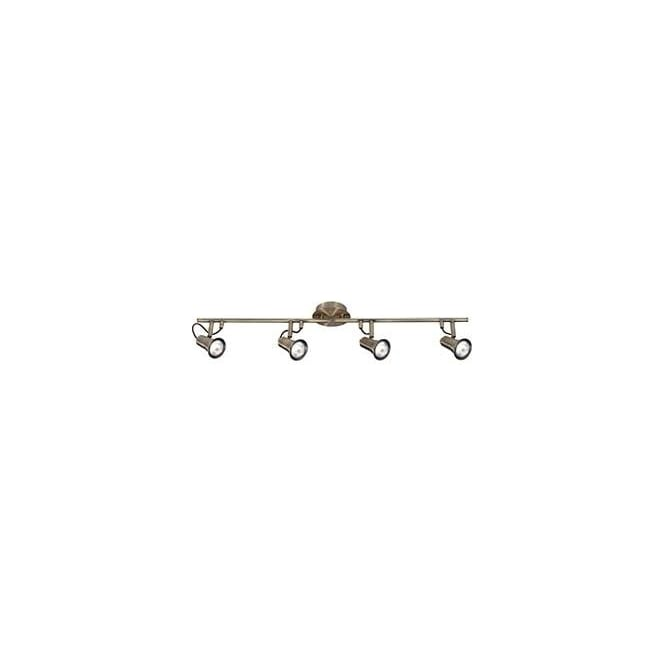 Searchlight 1224AB Eros 4 Light Ceiling Spotlight Antique Brass