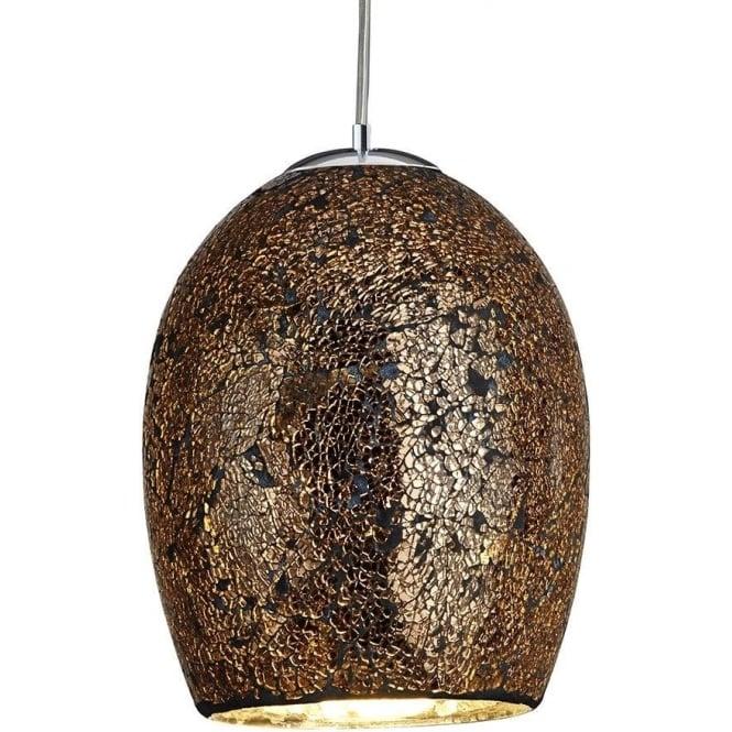 best website 4cda3 a7486 8069BZ Crackle 1 Light Ceiling Pendant Bronze