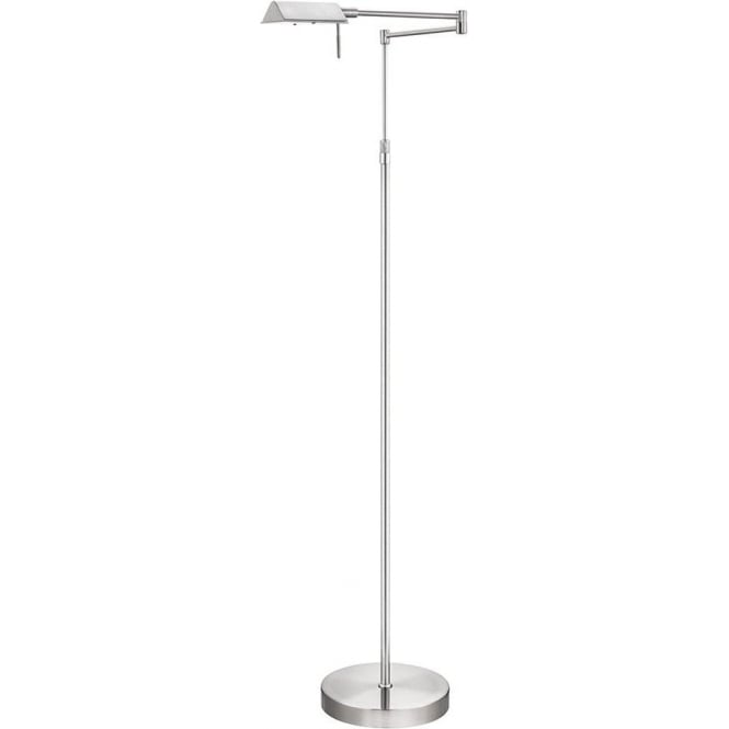 Searchlight 4665SS Apothecary 1 Light Floor Lamp Satin Silver